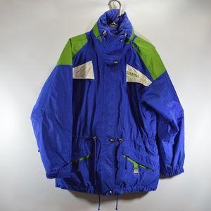 Vintage 90s Schoffel Womens 8 Full Zip Parka Blue